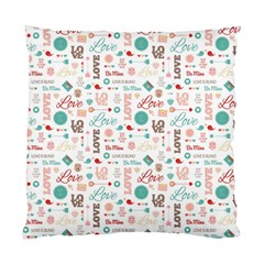 Lovely Valentine s Day Pattern Standard Cushion Case (two Sides) by TastefulDesigns