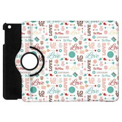 Lovely Valentine s Day Pattern Apple iPad Mini Flip 360 Case by TastefulDesigns
