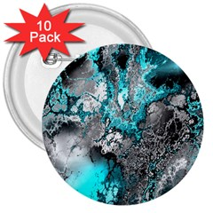 Fractal 30 3  Buttons (10 Pack)  by Fractalworld