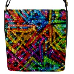 Color Play In Bubbles Flap Messenger Bag (s) by KirstenStar