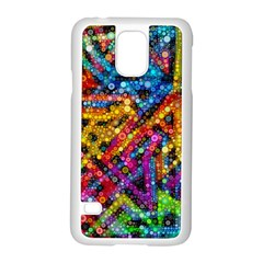 Color Play In Bubbles Samsung Galaxy S5 Case (white) by KirstenStar