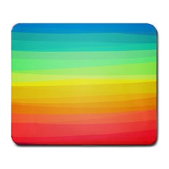 Sweet Colored Stripes Background Large Mousepads by TastefulDesigns
