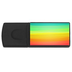 Sweet Colored Stripes Background Usb Flash Drive Rectangular (4 Gb)  by TastefulDesigns