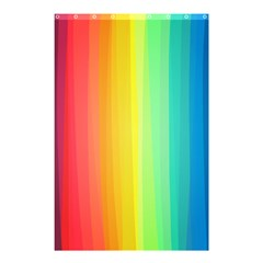 Sweet Colored Stripes Background Shower Curtain 48  X 72  (small)  by TastefulDesigns
