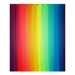 Sweet Colored Stripes Background Shower Curtain 60  X 72  (medium)  by TastefulDesigns