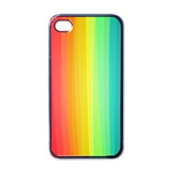 Sweet Colored Stripes Background Apple Iphone 4 Case (black) by TastefulDesigns