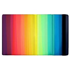 Sweet Colored Stripes Background Apple Ipad 3/4 Flip Case by TastefulDesigns