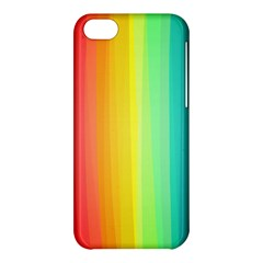 Sweet Colored Stripes Background Apple Iphone 5c Hardshell Case by TastefulDesigns