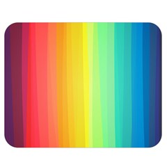 Sweet Colored Stripes Background Double Sided Flano Blanket (medium)  by TastefulDesigns