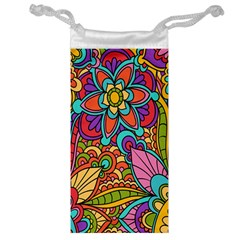 Festive Colorful Ornamental Background Jewelry Bags by TastefulDesigns