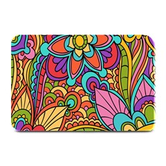 Festive Colorful Ornamental Background Plate Mats by TastefulDesigns