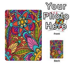 Festive Colorful Ornamental Background Multi Purpose Cards (rectangle)  by TastefulDesigns