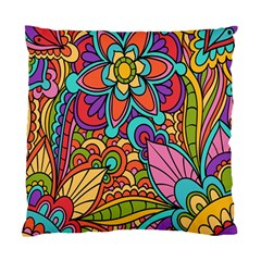 Festive Colorful Ornamental Background Standard Cushion Case (two Sides) by TastefulDesigns