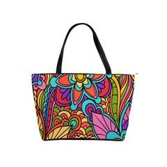 Festive Colorful Ornamental Background Shoulder Handbags by TastefulDesigns