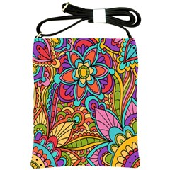 Festive Colorful Ornamental Background Shoulder Sling Bags by TastefulDesigns