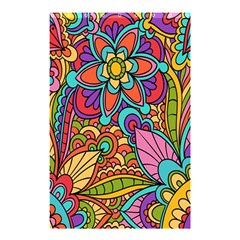 Festive Colorful Ornamental Background Shower Curtain 48  X 72  (small)  by TastefulDesigns