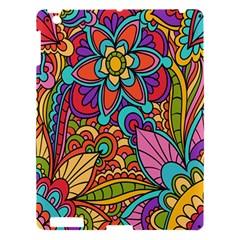 Festive Colorful Ornamental Background Apple Ipad 3/4 Hardshell Case by TastefulDesigns