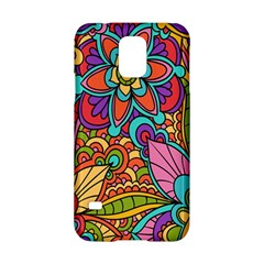 Festive Colorful Ornamental Background Samsung Galaxy S5 Hardshell Case  by TastefulDesigns