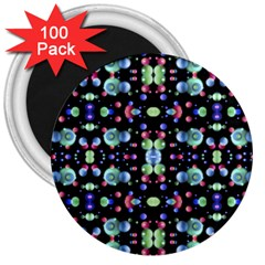 Multicolored Galaxy Pattern 3  Magnets (100 Pack) by dflcprints