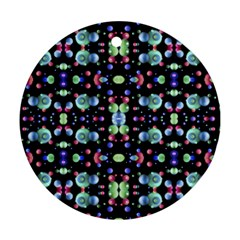 Multicolored Galaxy Pattern Round Ornament (two Sides)  by dflcprints