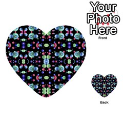Multicolored Galaxy Pattern Multi Purpose Cards (heart)  by dflcprints
