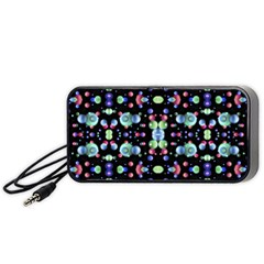 Multicolored Galaxy Pattern Portable Speaker (black)  by dflcprints