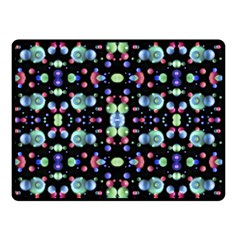 Multicolored Galaxy Pattern Double Sided Fleece Blanket (small)  by dflcprints