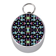 Multicolored Galaxy Pattern Mini Silver Compasses by dflcprints