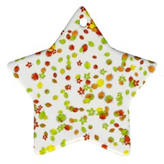 Colorful Fall Leaves Background Ornament (star)  by TastefulDesigns
