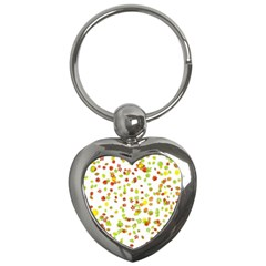 Colorful Fall Leaves Background Key Chains (heart)  by TastefulDesigns