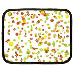 Colorful Fall Leaves Background Netbook Case (large) by TastefulDesigns