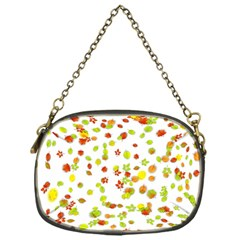 Colorful Fall Leaves Background Chain Purses (one Side)  by TastefulDesigns