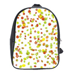 Colorful Fall Leaves Background School Bags (xl)  by TastefulDesigns