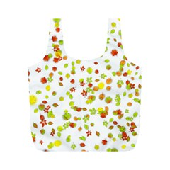 Colorful Fall Leaves Background Full Print Recycle Bags (m)  by TastefulDesigns