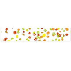 Colorful Fall Leaves Background Flano Scarf (large) by TastefulDesigns