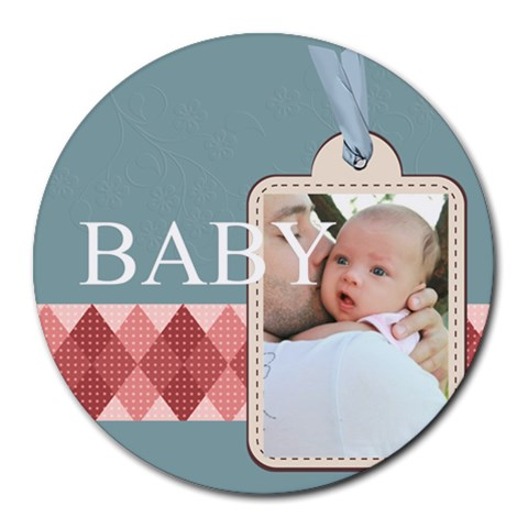Baby By Baby   Collage Round Mousepad   Llwrwyrzbz9v   Www Artscow Com 8 x8 Round Mousepad - 1