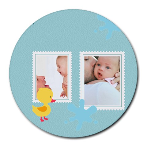 Baby By Baby   Collage Round Mousepad   34m5zhlrgqln   Www Artscow Com 8 x8 Round Mousepad - 1