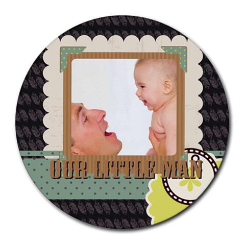 Baby By Baby   Collage Round Mousepad   6z9je9x2386t   Www Artscow Com 8 x8 Round Mousepad - 1