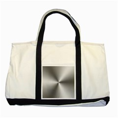 Shiny Metallic Silver Two Tone Tote Bag by yoursparklingshop
