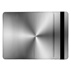 Shiny Metallic Silver Samsung Galaxy Tab Pro 12.2  Flip Case by yoursparklingshop
