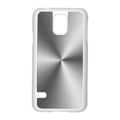 Shiny Metallic Silver Samsung Galaxy S5 Case (white) by yoursparklingshop