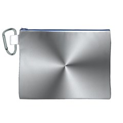 Shiny Metallic Silver Canvas Cosmetic Bag (xl)  by yoursparklingshop