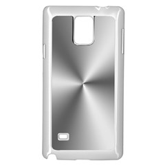Shiny Metallic Silver Samsung Galaxy Note 4 Case (white) by yoursparklingshop