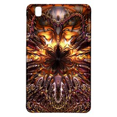 Golden Metallic Abstract Flower Samsung Galaxy Tab Pro 8 4 Hardshell Case by CrypticFragmentsDesign
