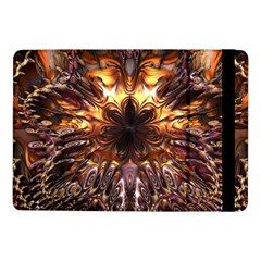 Golden Metallic Abstract Flower Samsung Galaxy Tab Pro 10 1  Flip Case by CrypticFragmentsDesign