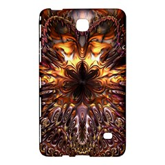 Golden Metallic Abstract Flower Samsung Galaxy Tab 4 (8 ) Hardshell Case  by CrypticFragmentsDesign