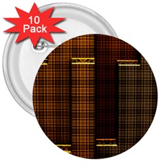 Metallic Geometric Abstract Urban Industrial Futuristic Modern Digital Art 3  Buttons (10 Pack)  by CrypticFragmentsDesign
