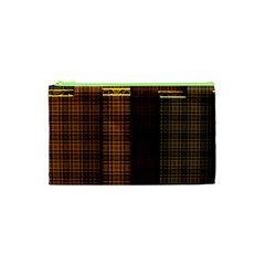 Metallic Geometric Abstract Urban Industrial Futuristic Modern Digital Art Cosmetic Bag (xs)