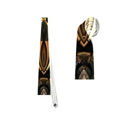 Golden Metallic Geometric Abstract Modern Art Necktie (two Side) by CrypticFragmentsDesign