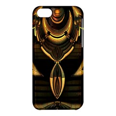 Golden Metallic Geometric Abstract Modern Art Apple Iphone 5c Hardshell Case by CrypticFragmentsDesign